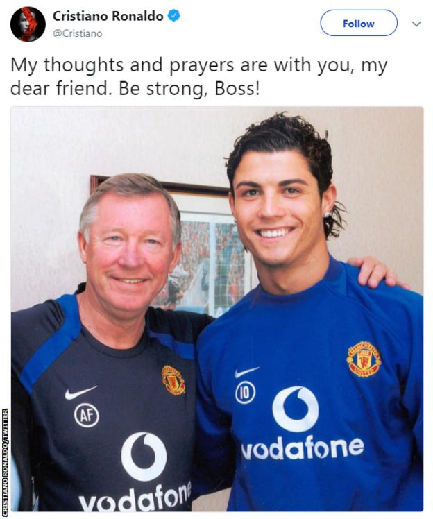 Cristiano Ronaldo with Sir Alex Ferguson