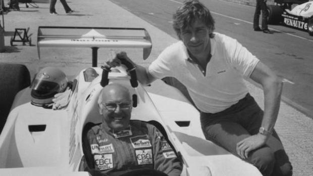 Murray Walker with James Hunt