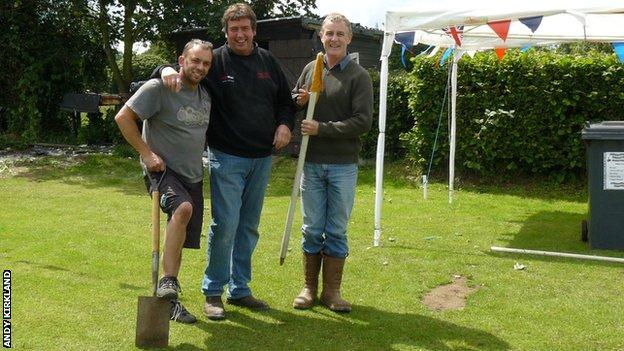 Andy Kirkland and other volunteers from Abbots Bromley Sports Association