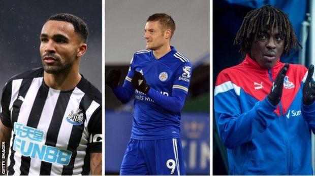 Callum Wilson (Newcastle), Jamie Vardy (Leicester), Eberechi Eze (Crystal Palace)