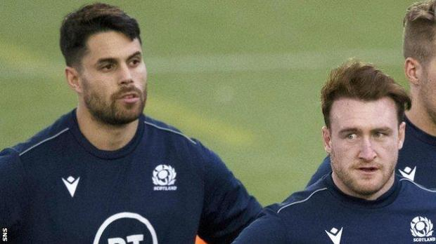Sean Maitland and Stuart Hogg