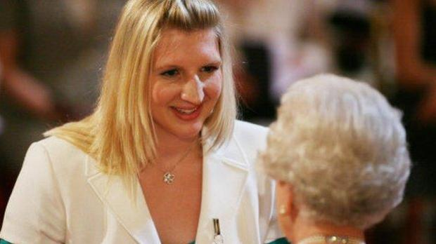 Rebecca Adlington was subjected to abuse after accepting an OBE
