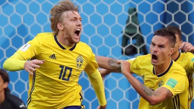 Image result for Forsberg strike sends Sweden into last eight