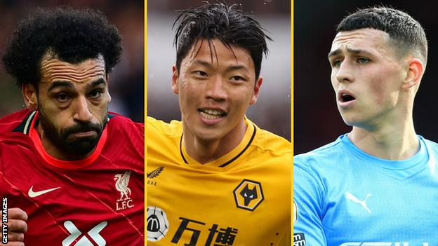 Mohamed Salah (Liverpool), Hwang Hee-chan (Wolves), Phil Foden (Manchester City)