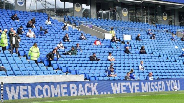 Fans at Brighton against Chelsea