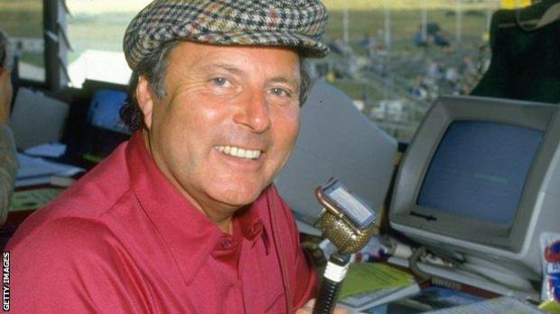 Peter Alliss in the commentary booth