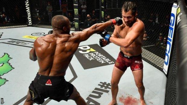 Kamaru Usman against Jorge Masvidal