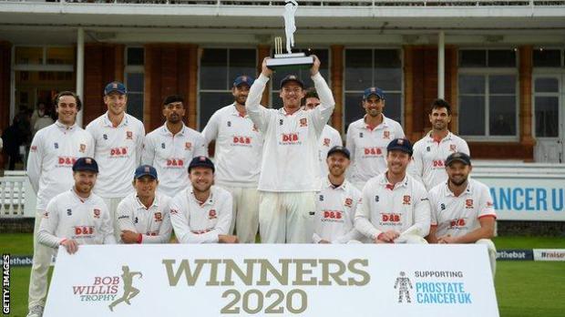 Essex Bob Willis Trophy winners