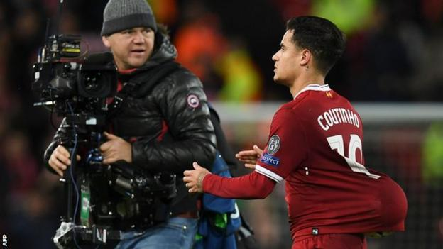 Sadio Mane scored the goal of the game but it was Philippe Coutinho who took home the match ball after running the show on an outstanding night for Liverpool