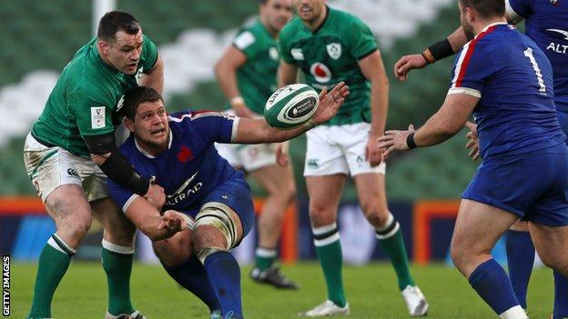 France playing Ireland