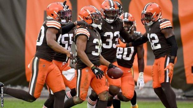 Cleveland Browns celebrate