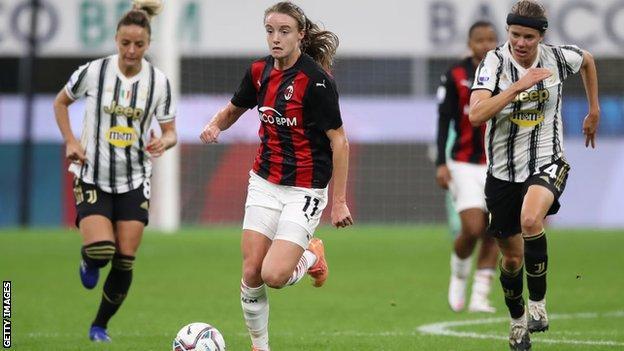 Christy Grimshaw against Juventus