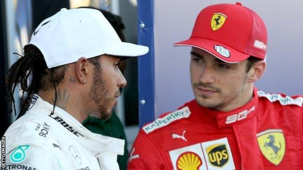 Lewis Hamilton and Charles Leclerc