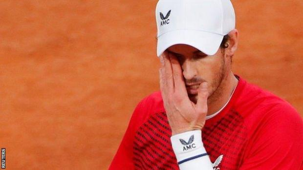 Andy Murray after his French Open defeat by Stan Wawrinka