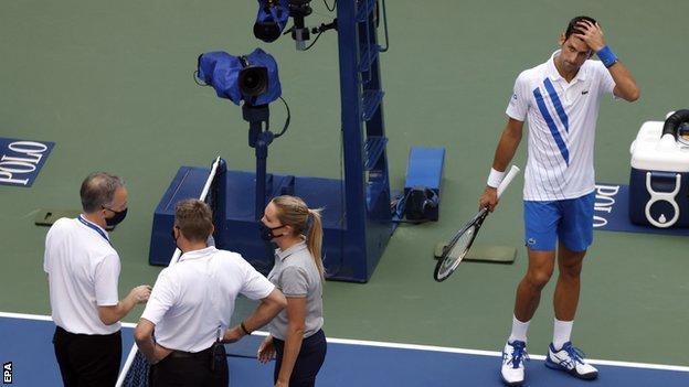 Novak Djokovic (right)
