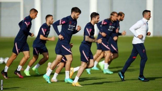 Croatia players training