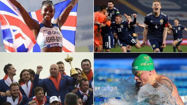 Dina Asher-Smith, Scotland men's football team, Europe's Ryder Cup team and swimmer Adam Peaty