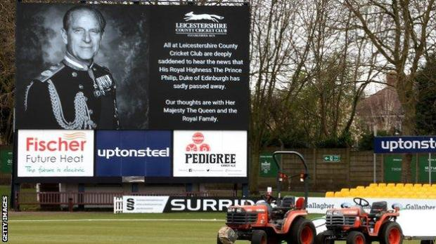 A tribute to Prince Philip at Grace Road, Leicester