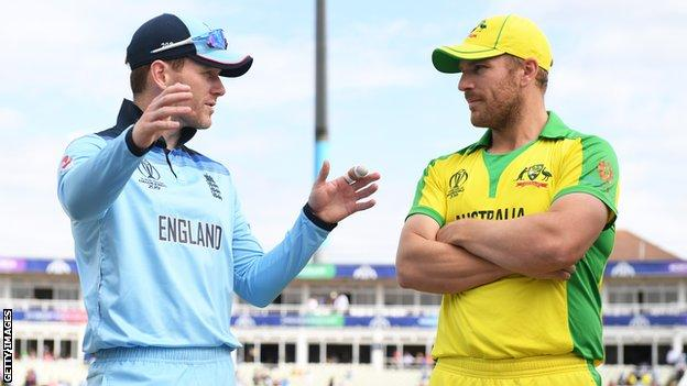 England captain Eoin Morgan and Australia captain Aaron Finch