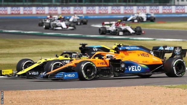 Daniel Ricciardo and Lando Norris