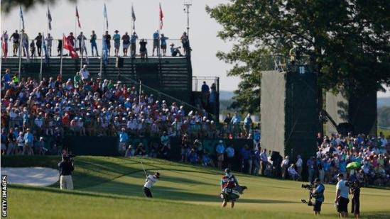 Crowds watch the 2017 US Women's Open