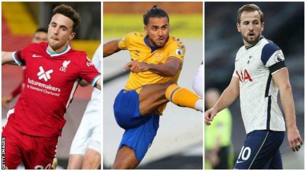 Diogo Jota, Dominic Calvert-Lewin, Harry Kane