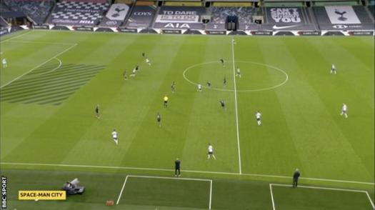 Harry Kane leaves space behind him vs Man City