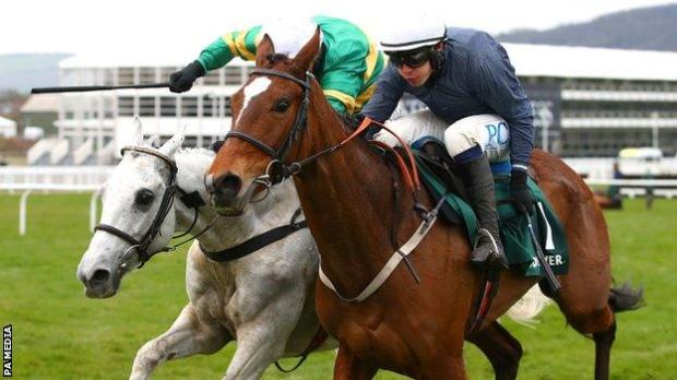 Colreevy and Elimay battle it out in the Mares' Chase