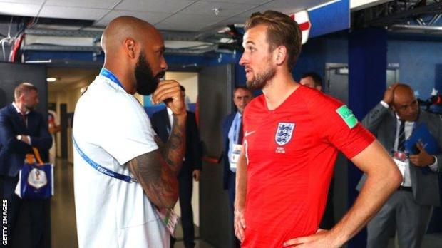 Thierry Henry and Harry Kane