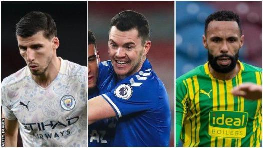 Ruben Dias (Manchester City), Michael Keane (Everton) & Kyle Bartley (West Bromwich Albion)