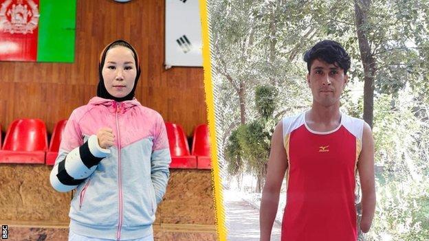 Taekwondo competitor Zakia Khudadadi and track athlete Hossain Rasouli