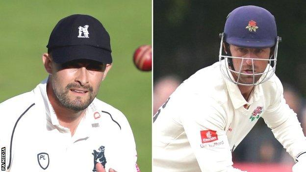 Will Rhodes (left) took over as Bears captain from Jeetan Patel for the 2020 season, while Dane Vilas has been Lancashire skipper since replacing Liam Livingstone in 2019