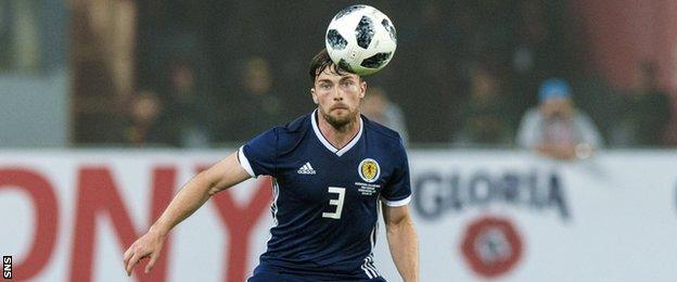 Lewis Stevenson in action for Scotland