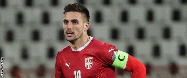 Tadic created all three of Serbia's goals during a standout display