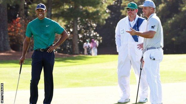 Tiger Woods and Bryson DeChambeau played a practice round together on Monday