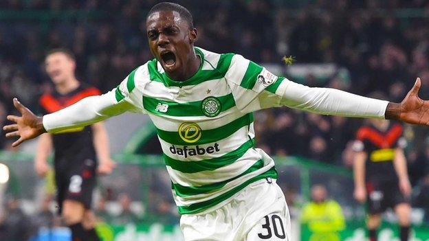 Image Result For Celtic Airdrieonians Timothy Weah Debut Goal As Hosts Into Next Round