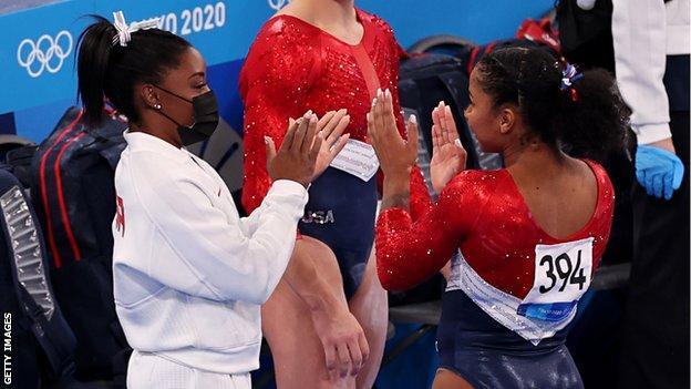 Simone Biles clapping