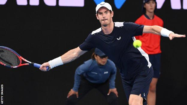 Andy Murray at the 2019 Australian Open