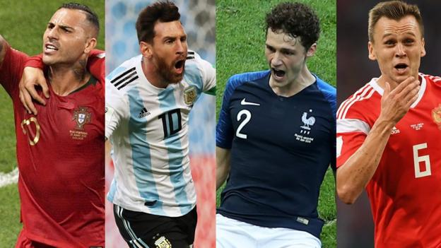 Ricardo Quaresma, Lionel Messi, Benjamin Pavard & Denis