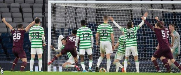 Josh Ginnelly scores for Hearts