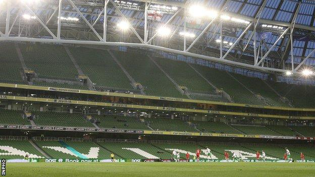 The Aviva Stadium could miss out as a venue for the tournament finals