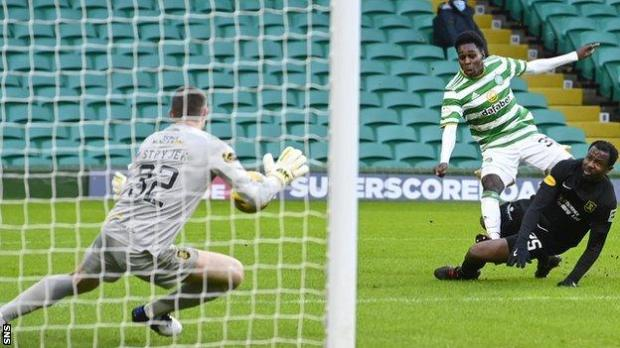 Jeremie Frimpong came close for Celtic in the first half