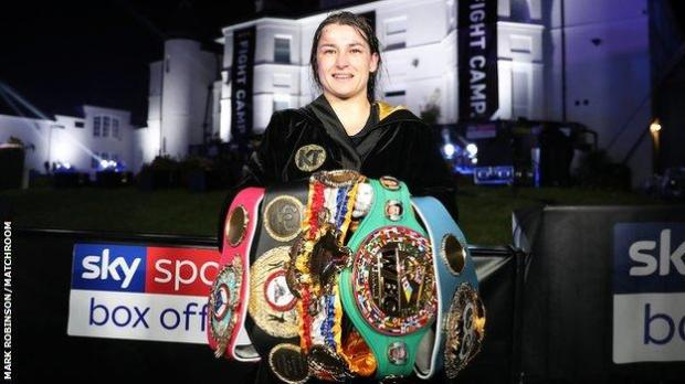 Taylor defended the four world lightweight titles in the garden of Matchroom Boxing's headquarters