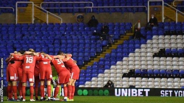 As the away team, Birmingham City had to abandon their traditional royal blue for their all-red change strip