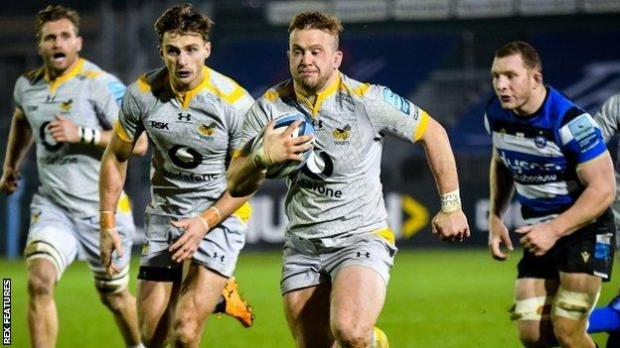Wasps hooker Tom Cruse's two tries at Bath took his tally in both competitions to four for the season
