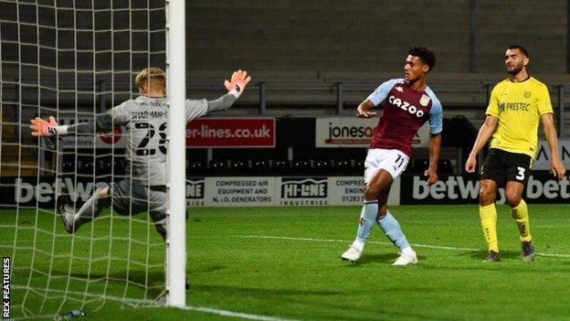 Ollie Watkins scored 37 minutes into his Aston Villa debut to equalise at the Pirelli Stadium