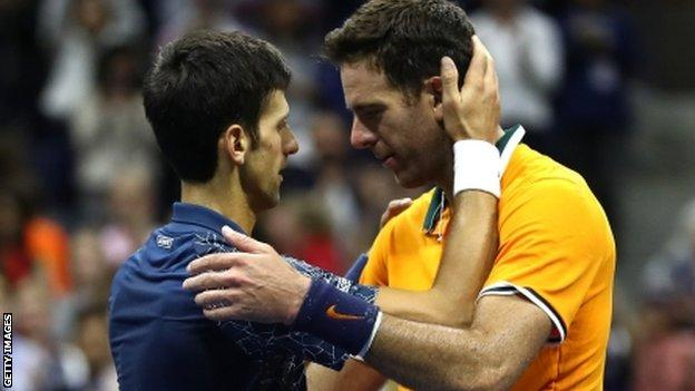 Novak Djokovic and Juan Martin del Potro