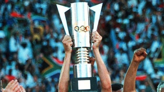 The former style of the Africa Cup of Nations trophy