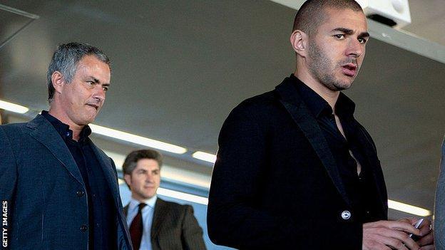 Jose Mourinho and Karim Benzema