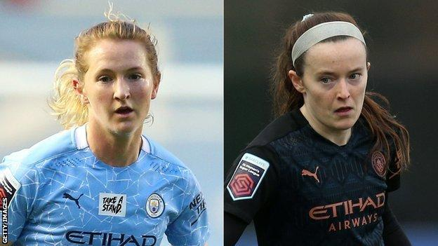 Man City midfielders Sam Mewis and Rose Lavelle